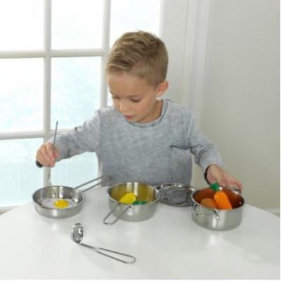 Ensemble batterie de cuisine enfant deluxe avec légumes
