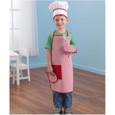 Ensemble d'accessoires chef gourmandises - Rouge