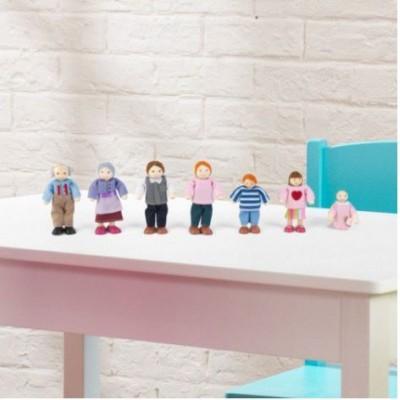 Ensemble famille de 7 figurines